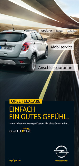 Der Opel FlexCare Flyer zum Download