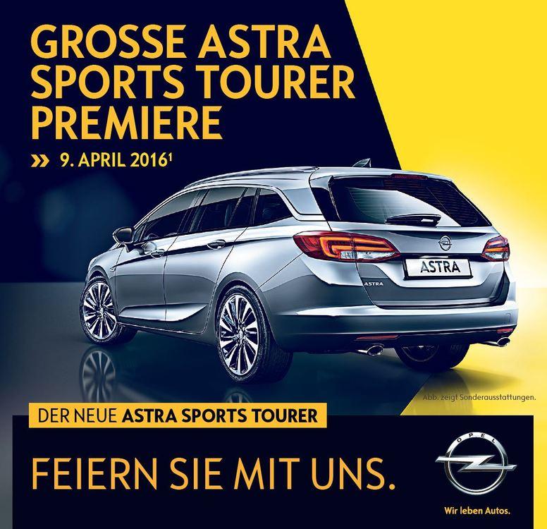 astra sports tourer präsentation am 9 april  opel bauer
