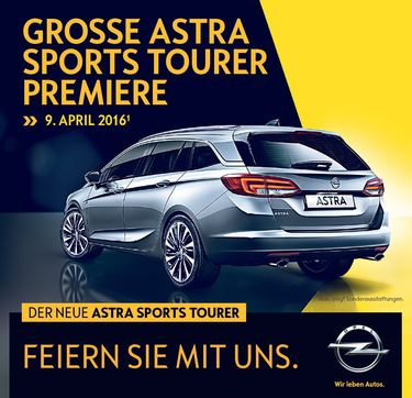 News: Astra Sports Tourer Präsentation am 9. April
